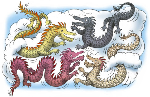 four dragons image