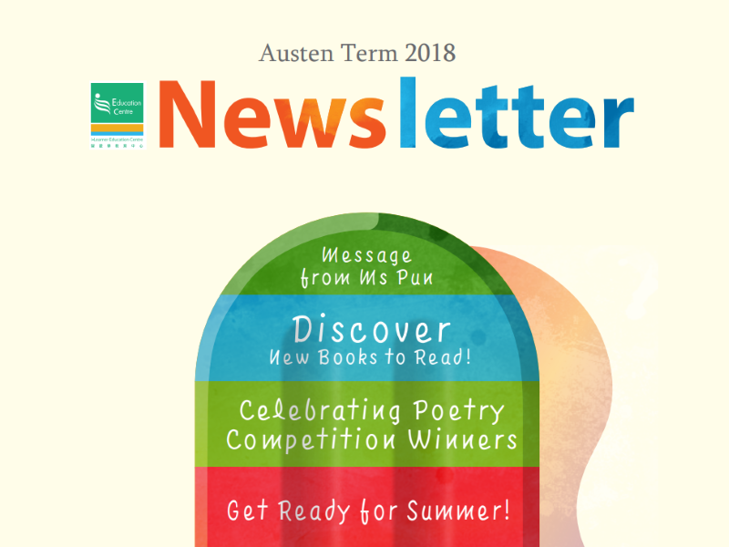 i-Learner Austen Term Newsletter 2018